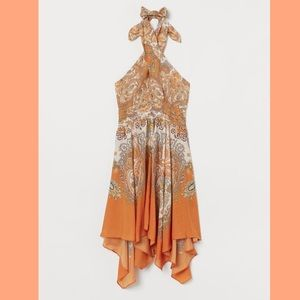 h&m | paisley halter scarf dress